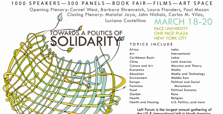 Join Red Quill Books at the Left Forum in New York City